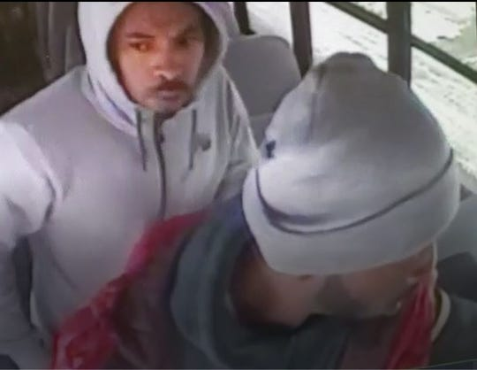 Police need help identifying two suspects in a Detroit bus attack Jan. 25.