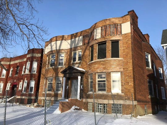 In a photo from Jan. 30, 2019, Michigan Lt. Gov. Garlin Gilchrist II's apartment building is shown.