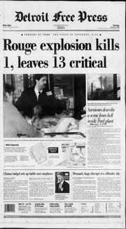 Detroit Free Press front page