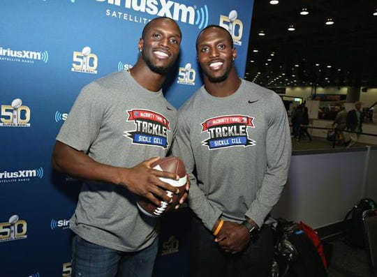 Jason McCourty, left, and Devin McCourty are set to make history as the first set of twins to play on the same team in a Super Bowl.