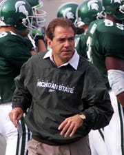 Nick Saban was Michigan State's head coach from 1995 to 1999, succeeding George Perles.