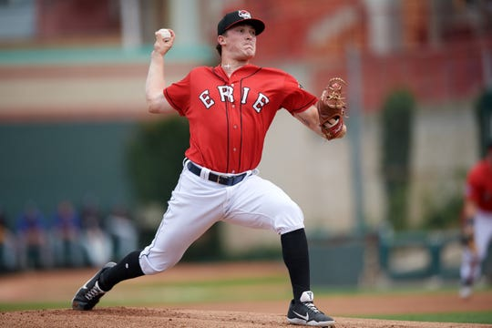 Tigers pitching prospect Beau Burrows reached Double-A Erie last season, and could make his Detroit debut in 2019.