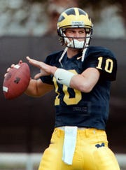 Seen before the Citrus Bowl in Orlando on Dec. 26, 1998, Tom Brady played for Michigan from 1996-99, going 20-5 as a starter.