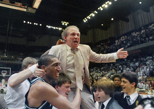 Coach Rollie Massimino and Villanova's victory over Georgetown in the 1985 NCAA title game is one the biggest upsets in tournament history -- a win predicted by Lynn Henning.