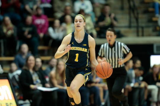Michigan guard Amy Dilk