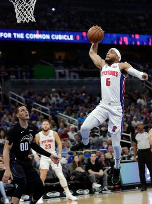 Pistons guard Bruce Brown, drafted in the second round of the 2018 draft out of Miami (Fla.), has surprisingly started 24 games.
