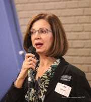 Lisa Dirado is president of the Northville Democratic Club. She is running for Michigan Democratic Party chair.