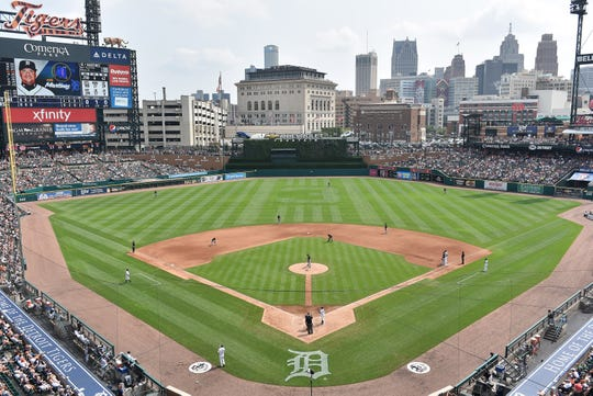 Comerica Park, home to the Detroit Tigers, opened in 2000.