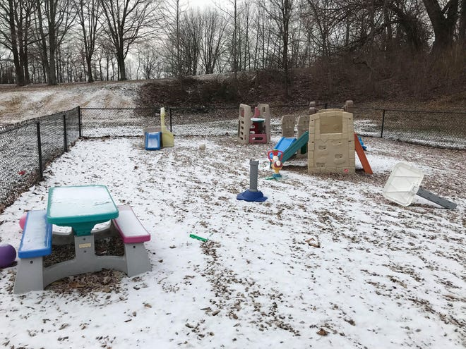 The playground outside Fireside Chapel on Kratzville Road in Evansville. A father reported to police that his daughter came home from Fireside Chapel Daycare with a red mark on her face.