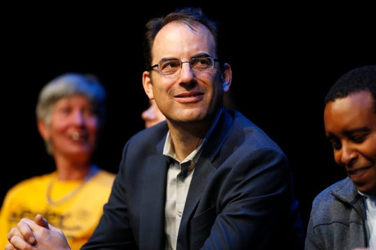 FILE - In this Oct. 26, 2018, file photo, Democratic attorney general candidate Phil Weiser makes a campaign stop in Silverthorne, Colo. On Wednesday, Jan. 30, 2019, Weiser, who is now attorney general, announced that Colorado will withdraw from a lawsuit challenging one of the Obama administration's biggest climate change initiatives and instead will support the plan. Weiser's announcement signaled a reversal from his predecessor, Republican Cynthia Coffman, who signed Colorado onto a multistate lawsuit seeking to roll back the Clean Power Plan. (AP Photo/David Zalubowski,File)