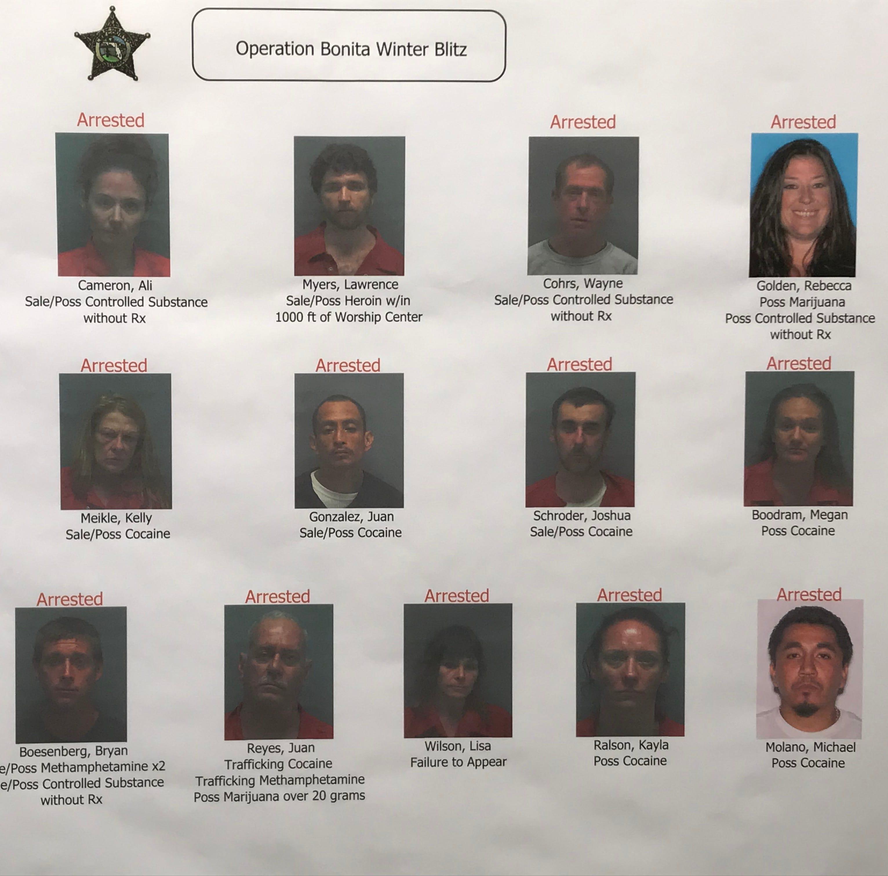 Authorities arrest 15 in operation targeting opioids, other drugs in Bonita Springs
