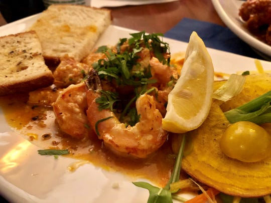 Gulf shrimp in a Moroccan spiced sauce from a recent specials menu at Malia Island Fusion.