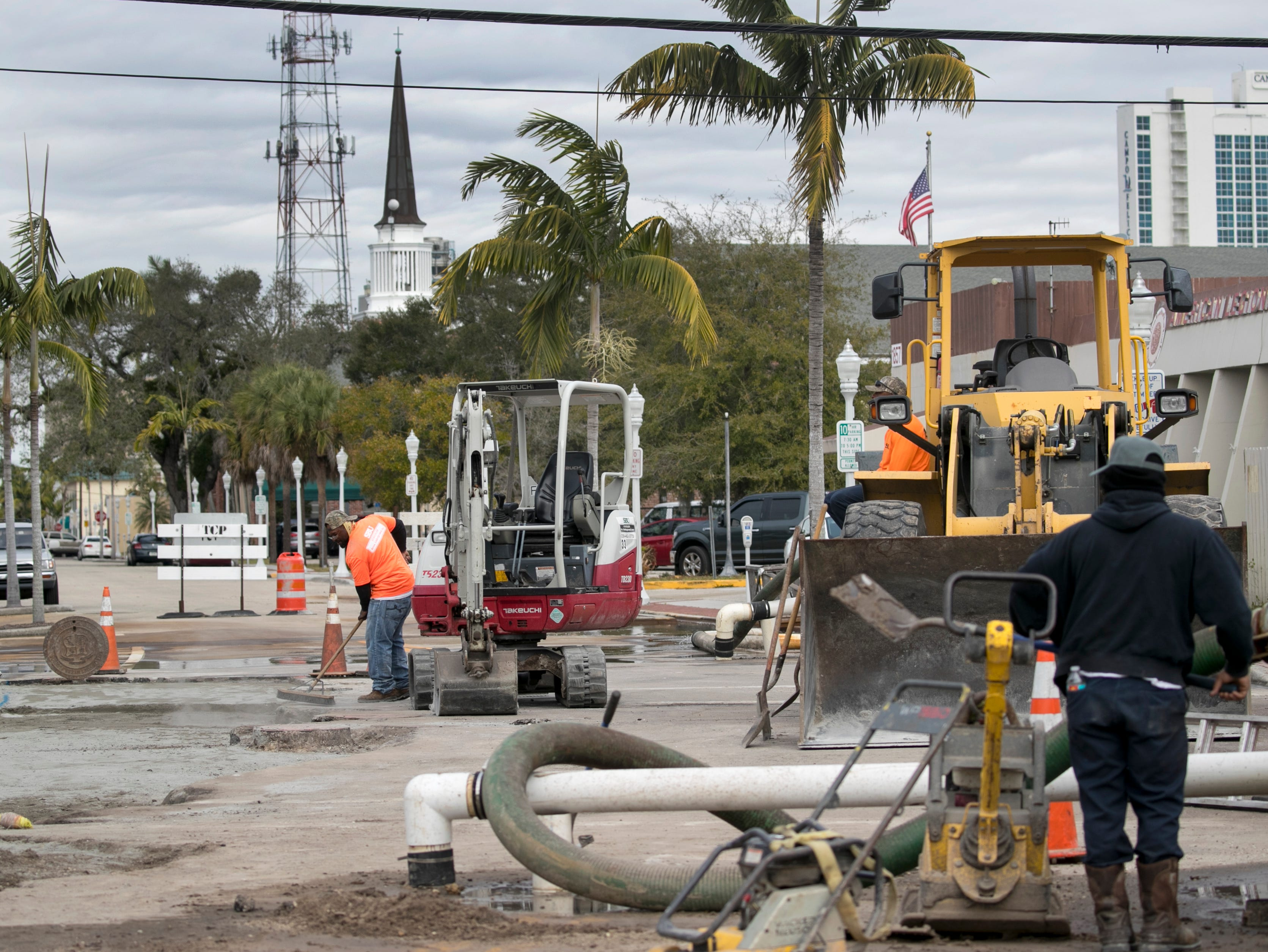 The work at the intersection of Dr. Martin Luther King Jr. Boulevard and Jackson Street in downtown Fort Myers will soon be complete.