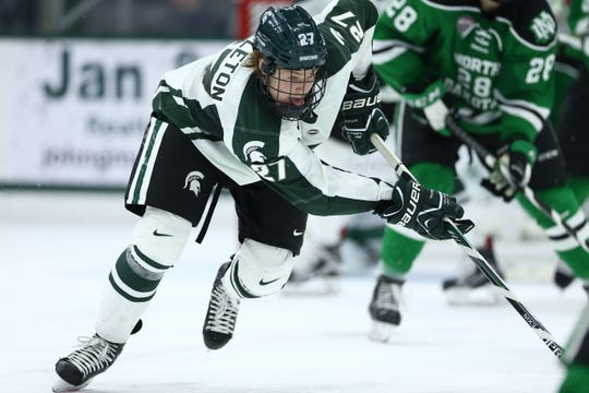 Mason Appleton put together two big seasons at Michigan State after being drafted by the Winnipeg Jets.
