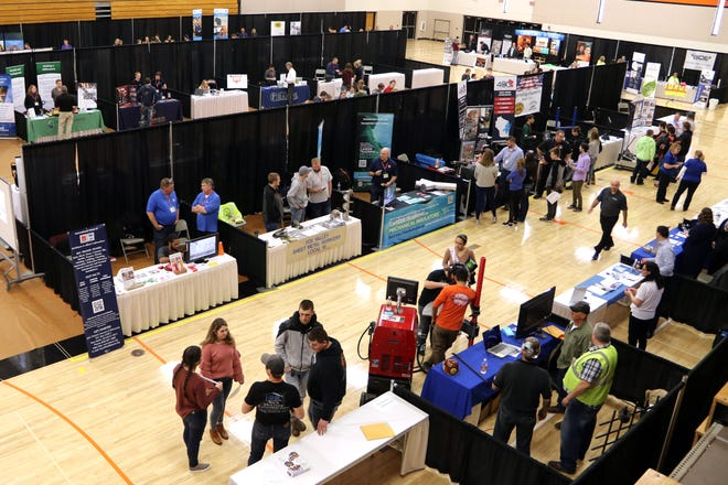 Oconto Falls High School will host the second annual SkillsUSA Future Fair on Feb. 12. Shown is last year's fair.