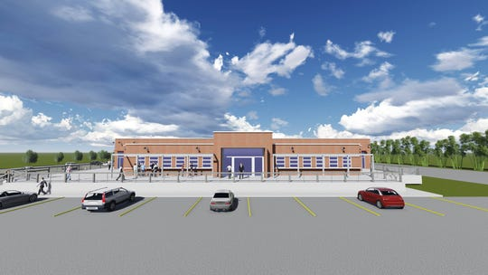 A rendering of the front of The Junction at Downtown Airport.