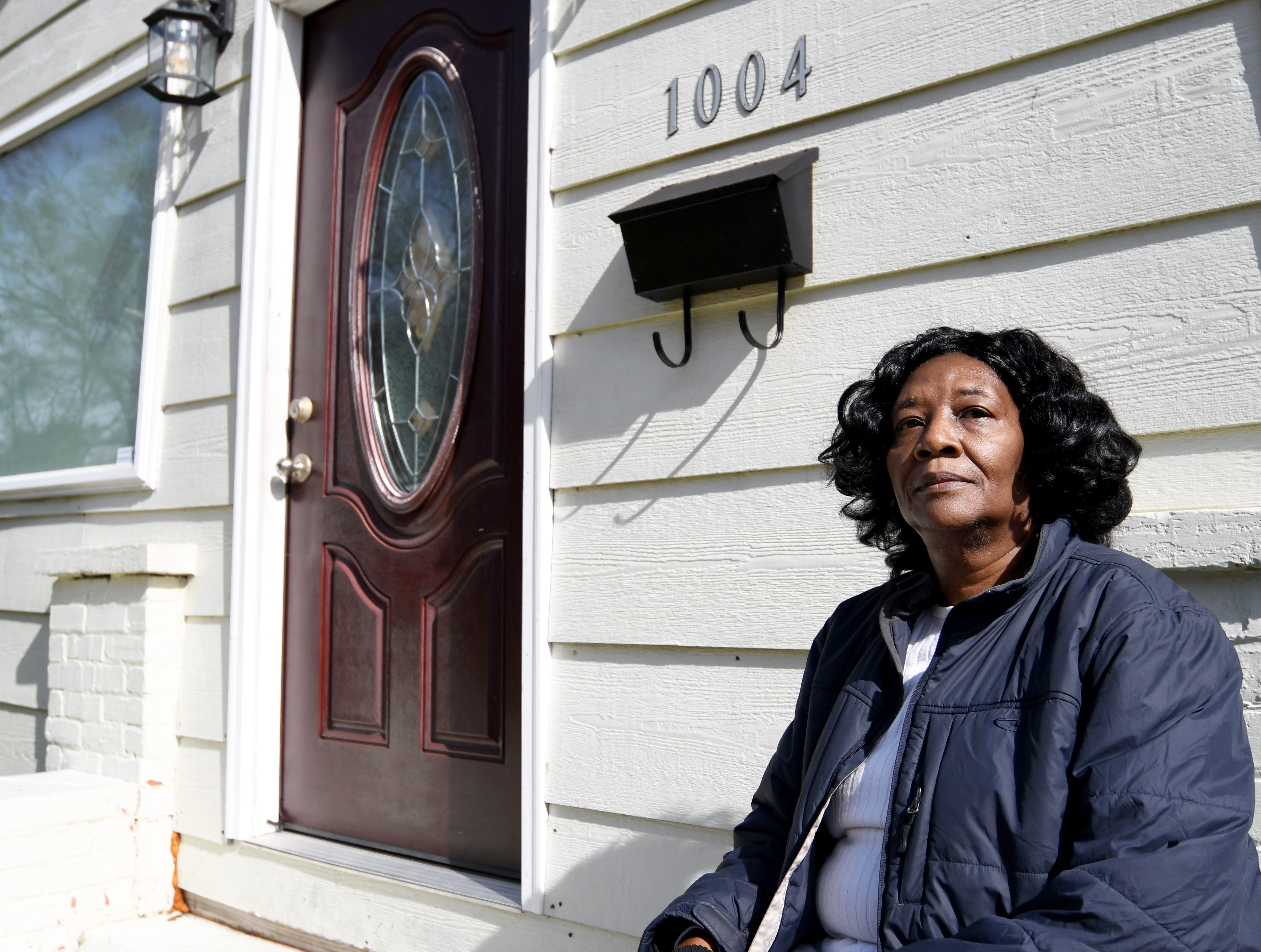Resident Lillie Dwight stands by her house at 1004 Spencer Street in Hattiesburg that has been given a landmark status by the City Council of when Martin Luther King, Jr. visited there.