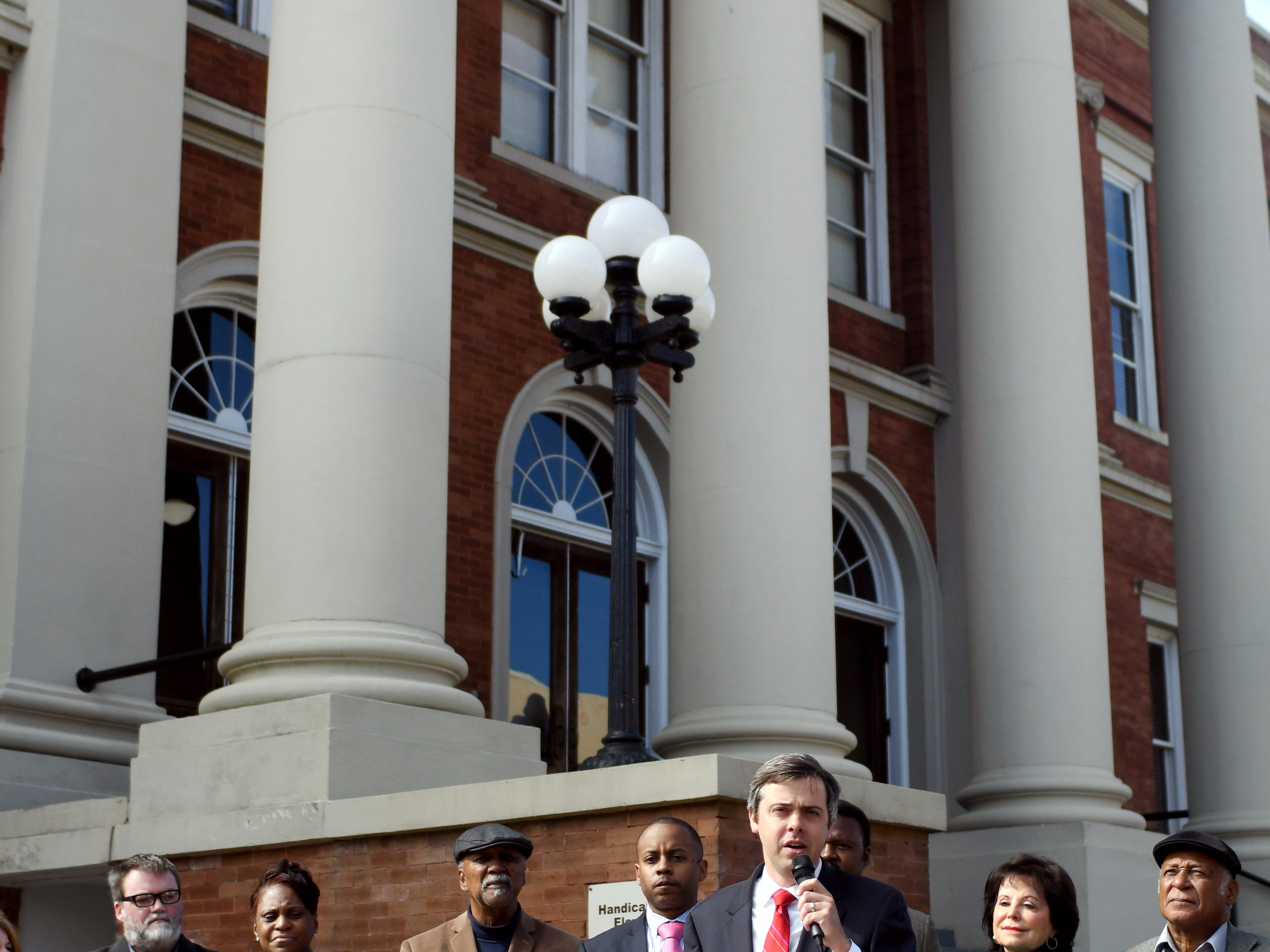 Mayor Toby Barker speaks about the new driving and audio tour of the 1964 Freedom Summer Trail around Hattiesburg. There will be 16 stops in Hattiesburg where guest can visit and listen to the history of the Freedom Summer Trail.