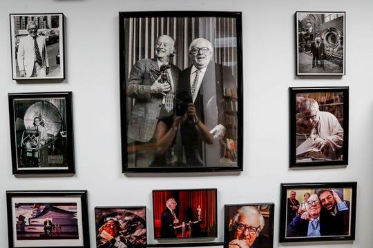 Photographs of American author Ray Bradbury are on display inside the Center for Ray Bradbury Studies located at Cavanaugh Hall on the IUPUI campus.