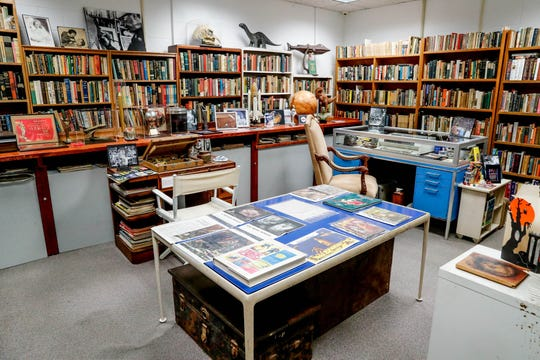 The office of famous American author Ray Bradbury has been painstakingly recreated using his original belongings inside The Center for Ray Bradbury Studies located at Cavanaugh Hall on the IUPUI campus on Thursday, Jan. 10, 2019.