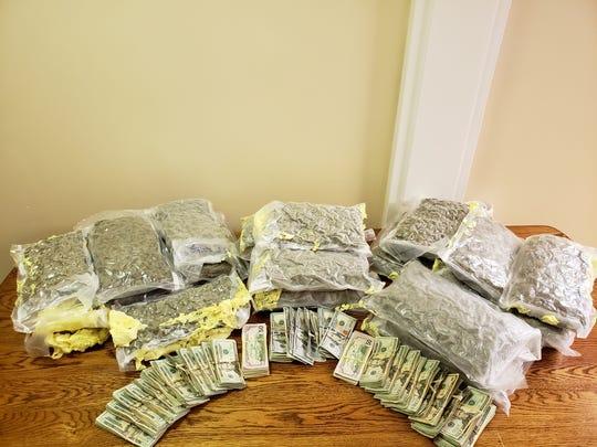 Hinds County deputies seized 20 pounds of marijuana and $30,000.