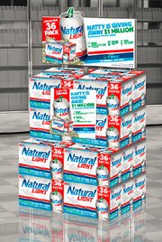 'Natty Light' is giving away $1M to grads in student loan debt, so they marked their cans with a green tab for the campaign.