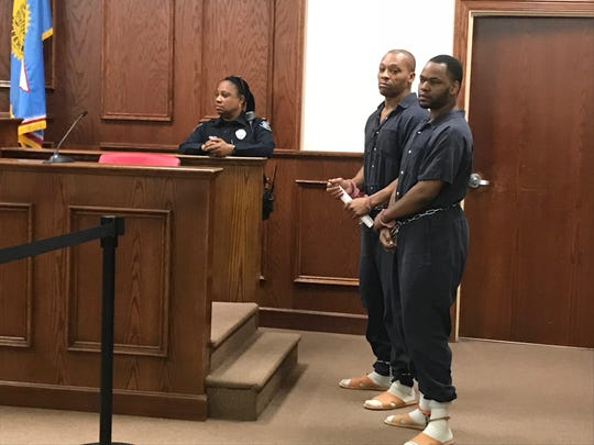 Billy Moore, 51, and Corrion Greer, 27, appeared in Jackson City Court Thursday for a preliminary hearing of first-degree murder charges. The hearing was rescheduled for Feb 28.