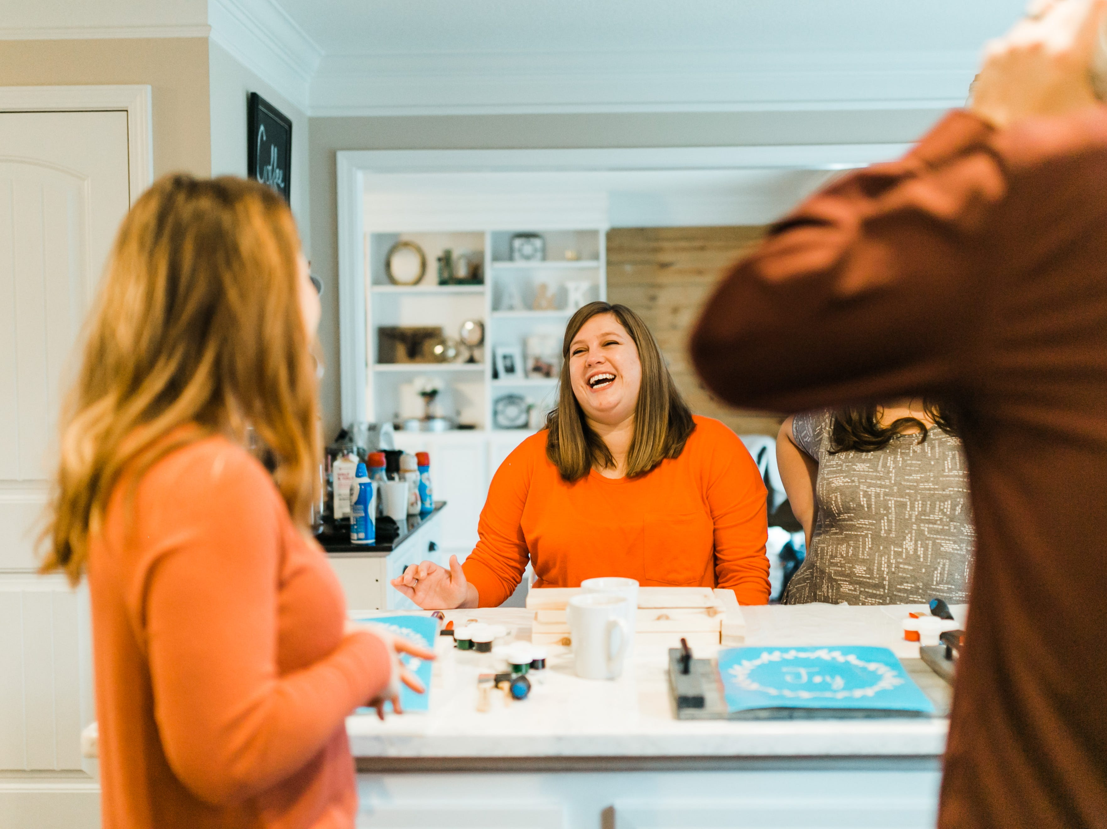 "The online ordering system allows customers to order the same project for everyone, or the party host can send a link out for their guest to order and pay for the design they want. ""It takes the stress out of one person having to buy all of them,"" said Ashley McAlpin."