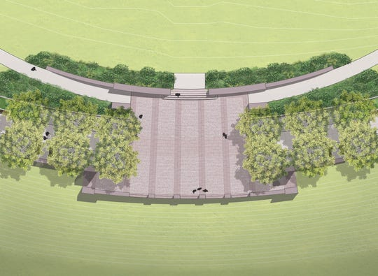 Concept plans from Nelson Byrd Woltz Landscape Architects for the HGTV Overlook at Lakeshore Park planned as part of a $3 million gift from Scripps Network Interactive.