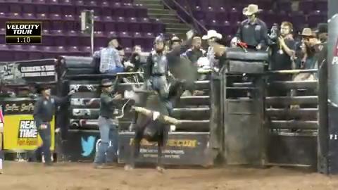 Bryan Titman rides bull called