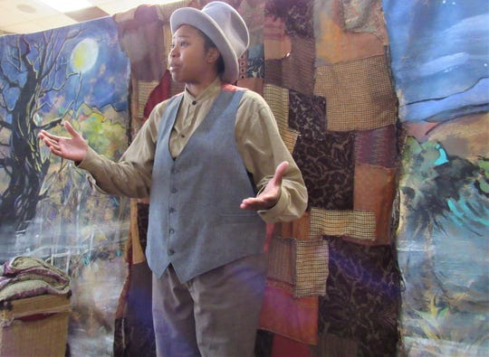 """Actor Breunna Darling performed in last year's Black History Month production of """"Heroes of the Underground Railroad."""" The annual free event is sponsored by the Farragut Museum; this year's play, """"Let it Shine: The American Civil Rights Movement,"""" will be presented on Feb. 24."""