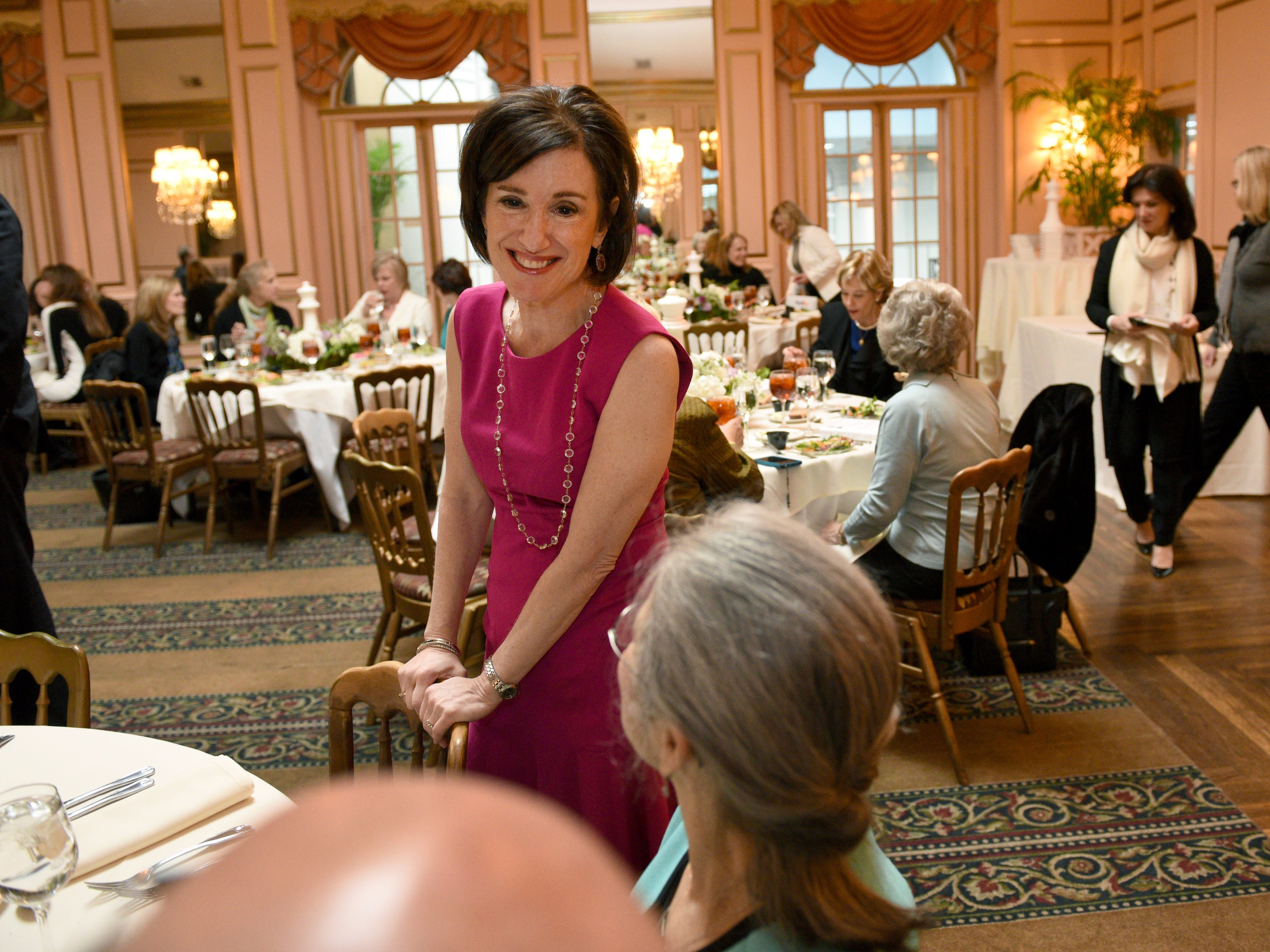 """Susan Packard, co-founder and former COO of HGTV,  at the launch of her new book New Rules of the Game: 10 Strategies for Women in the Workplace"""" at the Orangery Monday, Feb. 16, 2015."""