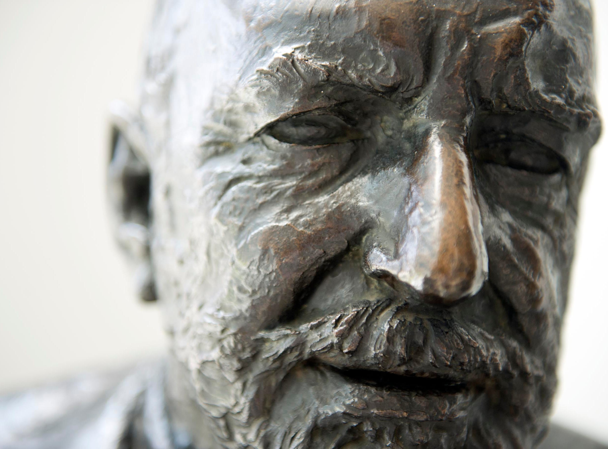 Bust of E.W. Scripps. Photos of the Knoxville News Sentinel building on Sunday, June 15, 2014.