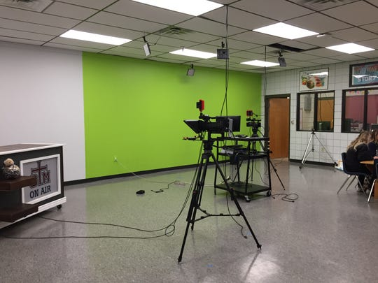 A television studio is part of the new DREAM space at St. Thomas More Catholic High.
