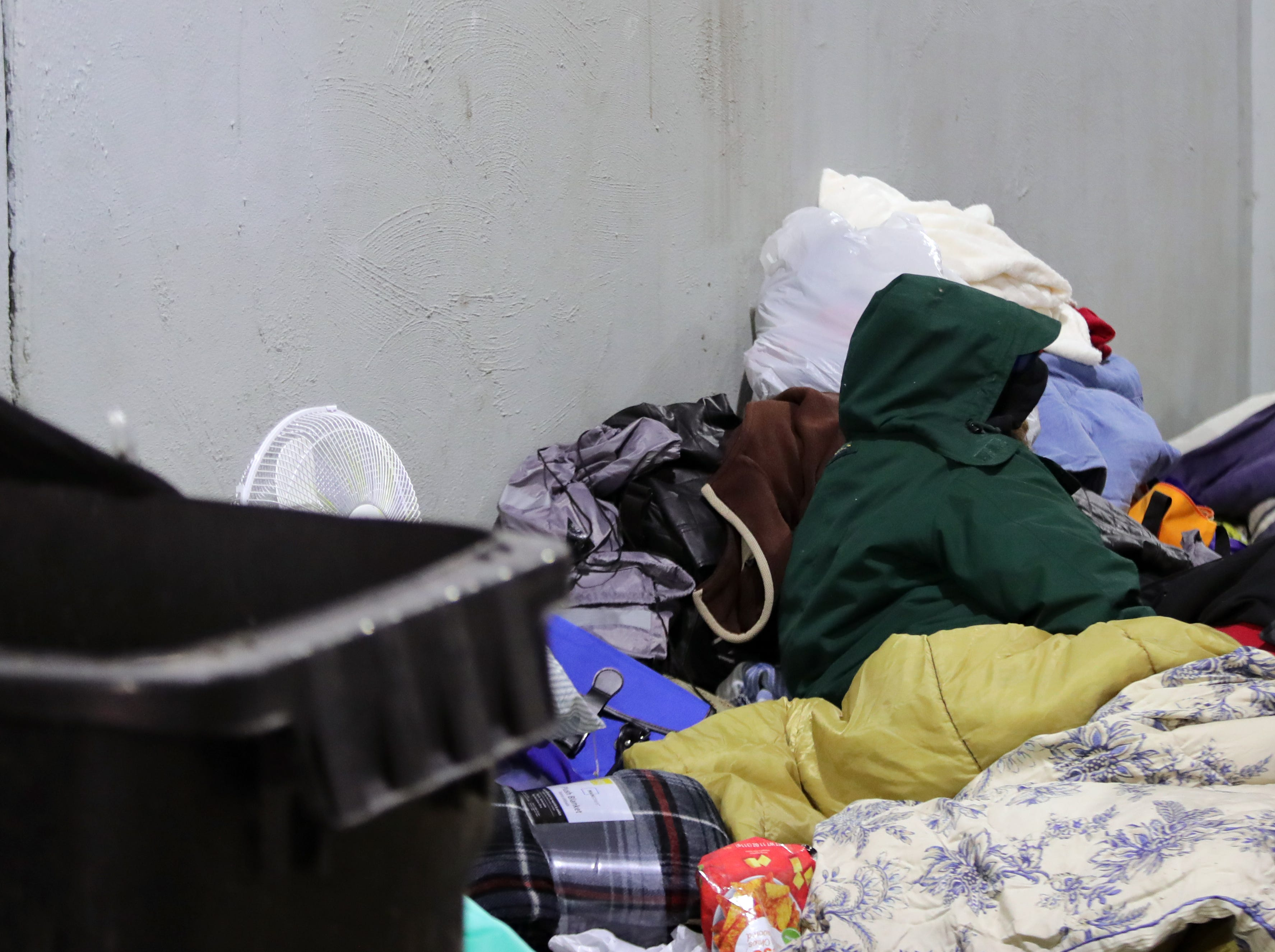 """Brian, a homeless man that goes by """"Detroit,"""" says he never goes in to the shelters. Jan. 31, 2019"""