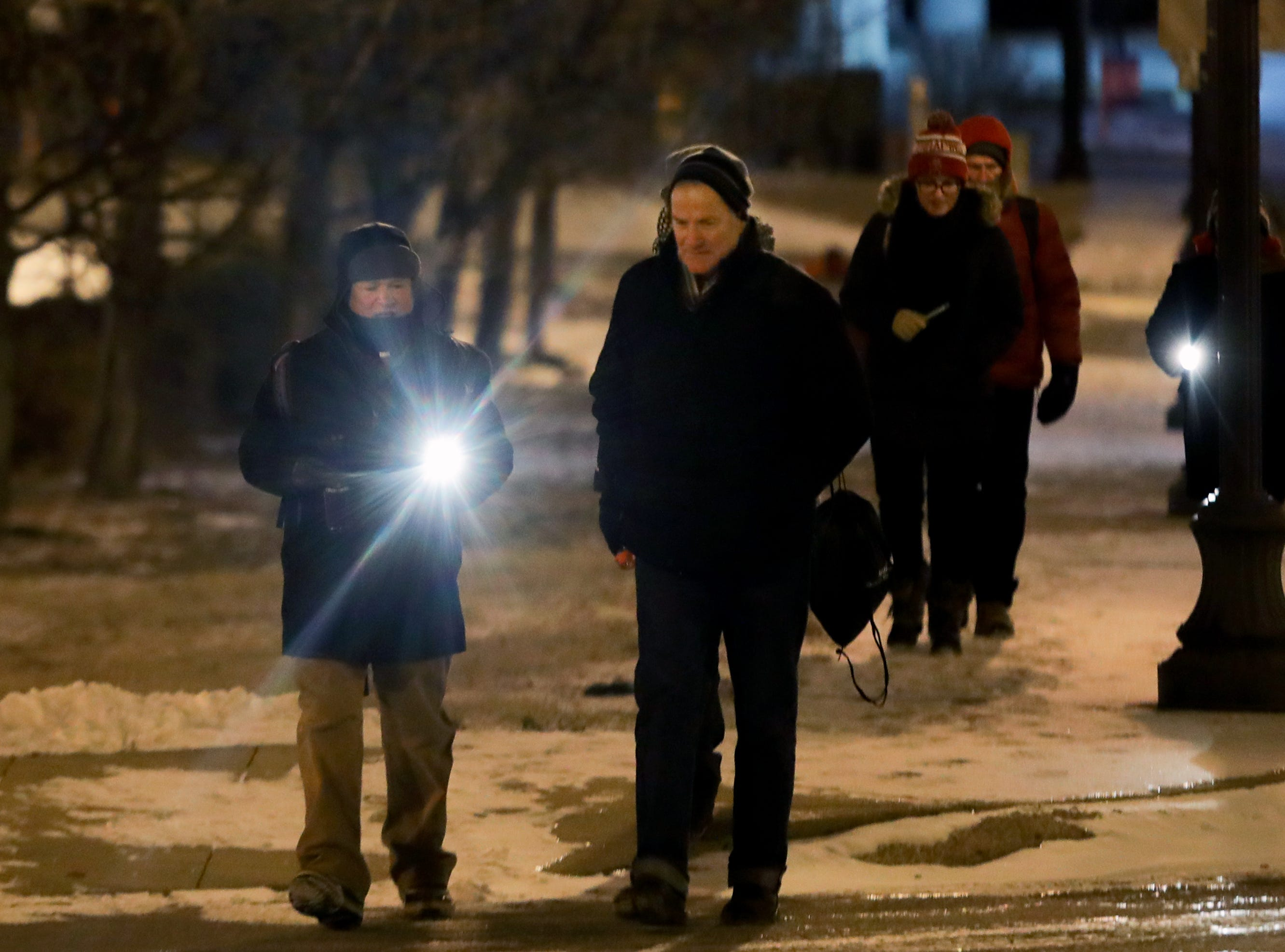 Volunteers braved the extreme cold at 4 a.m. to search different sections of Louisville for the annual homeless count. Jan. 31, 2019