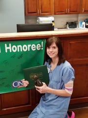 Aurora Medical Center in Manitowoc County recently presented a DAISY Award to Registered Nurse Katie MacDonald.
