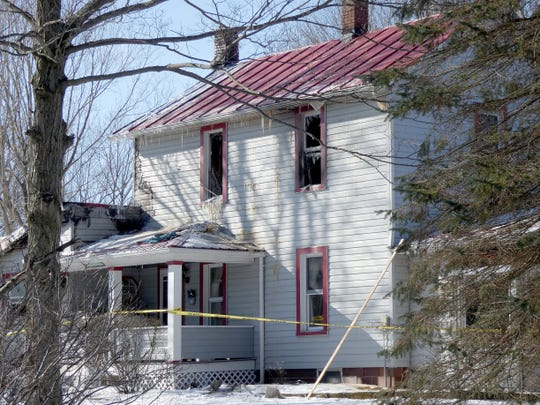 A wood burner caught a wall on fire  on Wednesday at an older farmhouse on Tommy Lane.