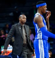 Memphis head coach Penny Hardaway during action against Tulsa, Wednesday, January 30, 2019.