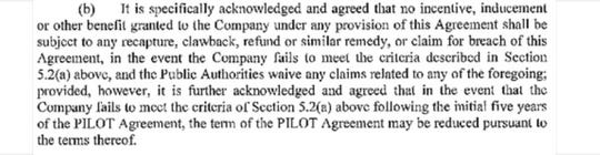 "A screen shot of the ""no clawback"" language from governments' secretly negotiated 2010 contract with Electrolux."
