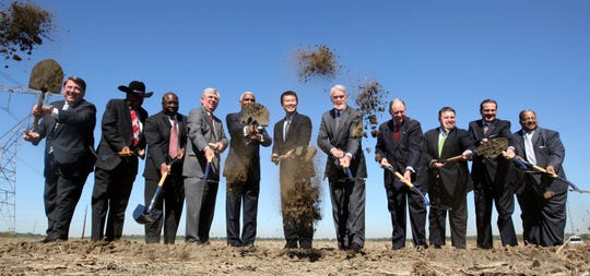 Ground is broken on the new Electrolux facility in the Frank Pidgeon Industrial Park on Oct. 5, 2011. Less than eight years later, the appliance maker says the Memphis plant will shut down and all its jobs eliminated before 2021.