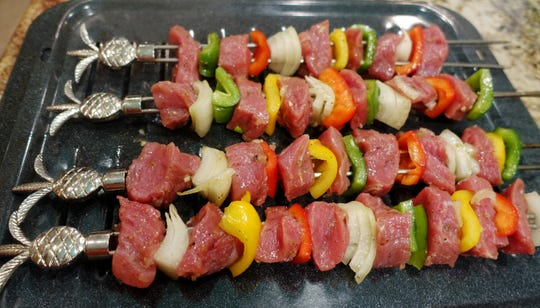 Albanian shish kebab can be grilled or broiled.
