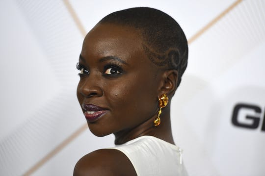"""Danai Gurira arrives at the 11th Annual Essence Black Women in Hollywood Awards Luncheon on March 1, 2018 in Beverly Hills, Calif. The Milwaukee Repertory Theater will perform Guirira's play """"Eclipsed"""" during its 2019-'20 season."""