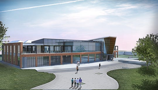 This rendering of the new digital library designed for Grambling State University shows the side of the facility that is estimated to be complete in winter 2020.