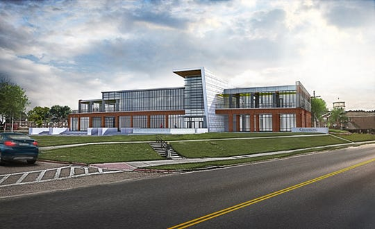 This rendering of the new digital library designed for Grambling State University shows the front of the facility that is estimated to be complete in winter 2020.