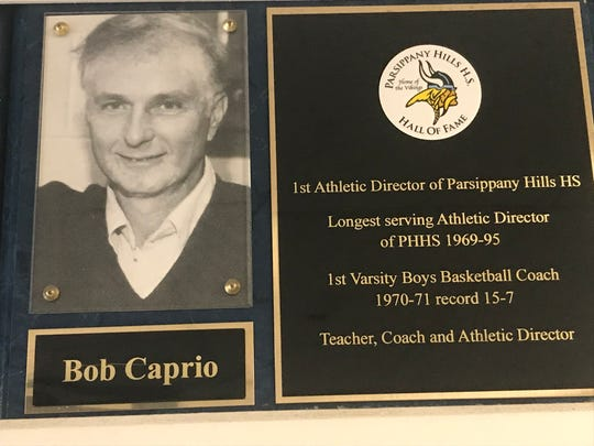 Bob Caprio was a member of the first Parsippany Hills High School Hall of Fame Class