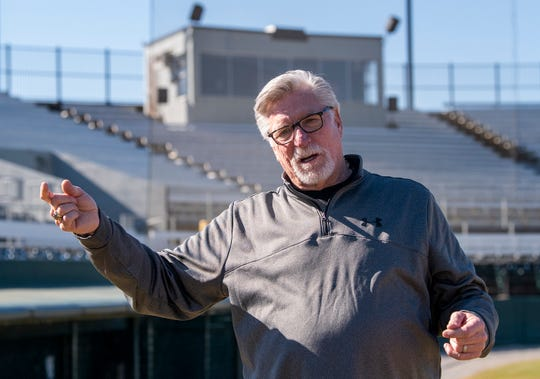 Professional Baseball Hall of Famer Jack Morris visits Paterson Field in Montgomery, Ala., where he played with the Montgomery Rebels at the start of his pro career, during a visit to Montgomery on Thursday January 31, 2019.