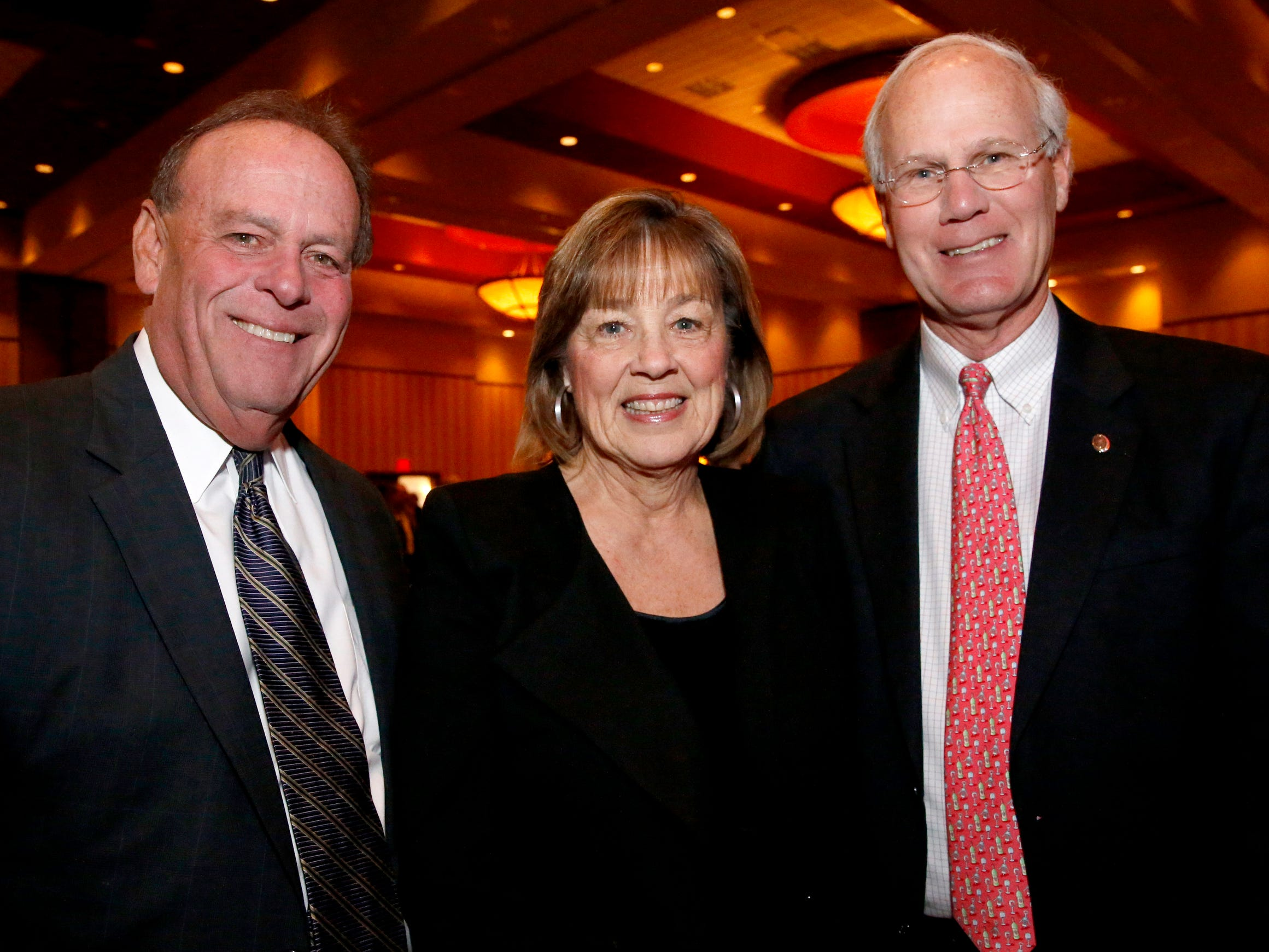Them Hagan, left, Susan Lee, center, and Lee Moss, right at Business at Its Best held on Wednesday, Jan. 31, 2019 at Embassy Suites.