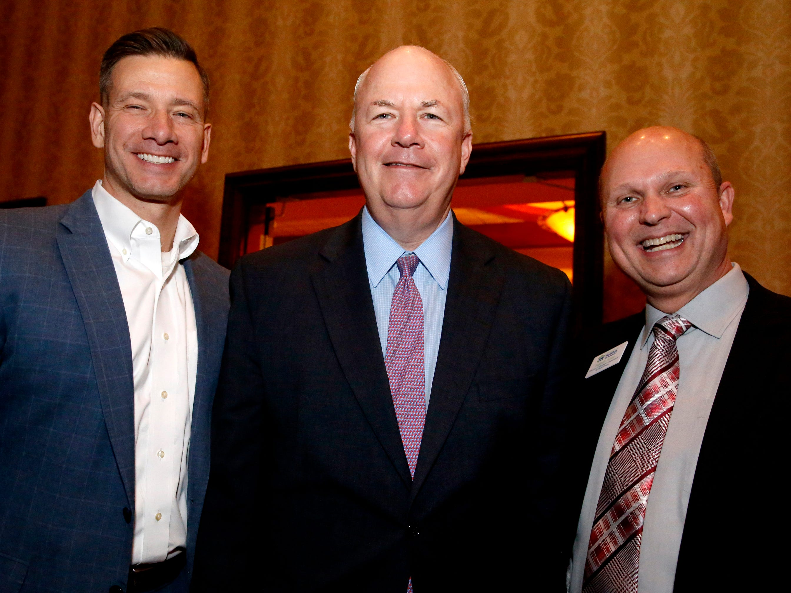Ronnie Martin, left, Paul Latter, center and Randy Allen at Business at Its Best held on Wednesday, Jan. 31, 2019 at Embassy Suites.
