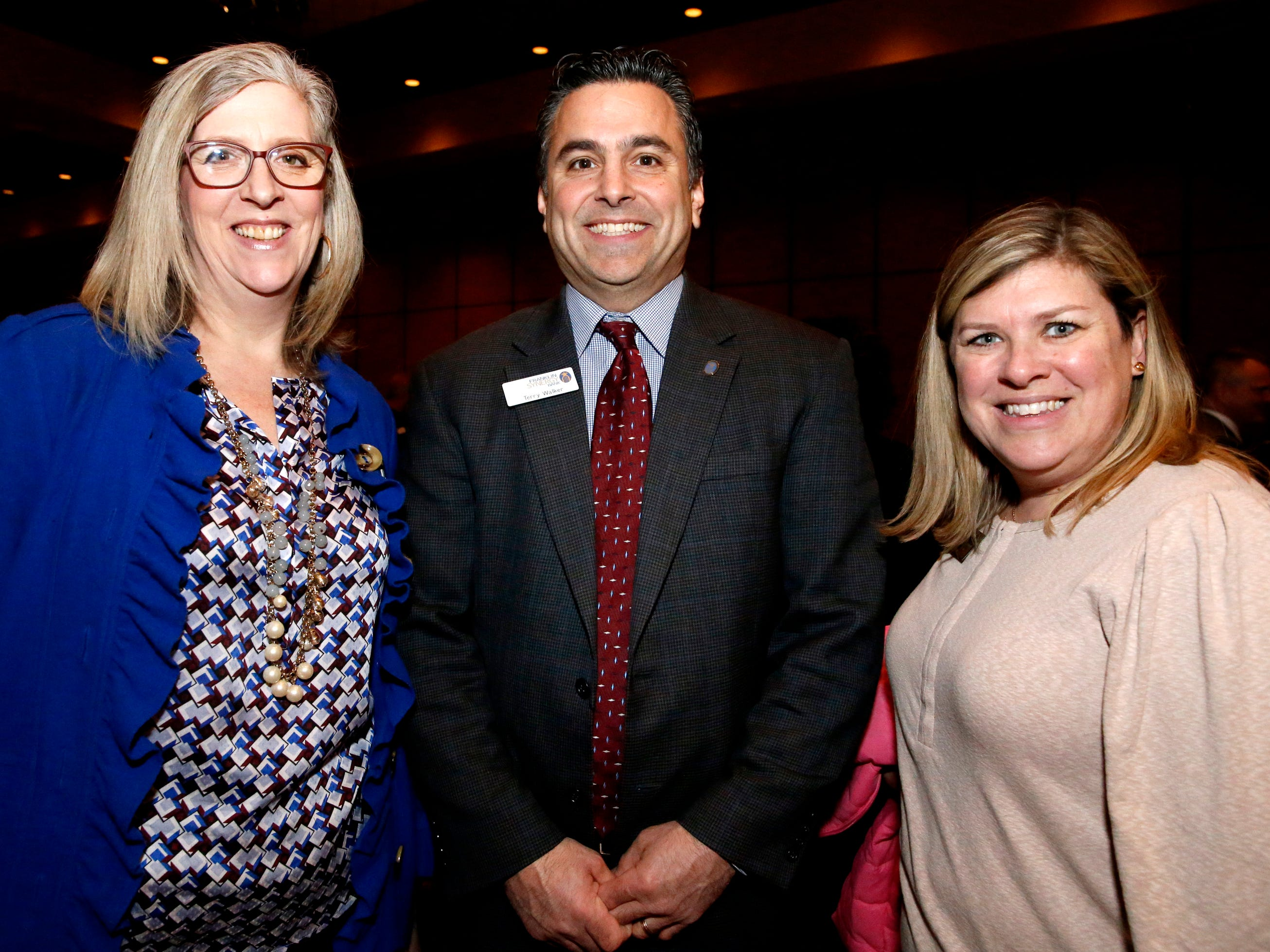 Sheryl Chestnut, left, Terry Walker, center and Beth Hackett , right at Business at Its Best held on Wednesday, Jan. 31, 2019 at Embassy Suites.
